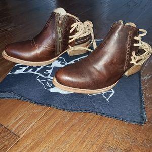 """Freebird by Steven leather boots""""Jojo"""" Cognac sz 6"""